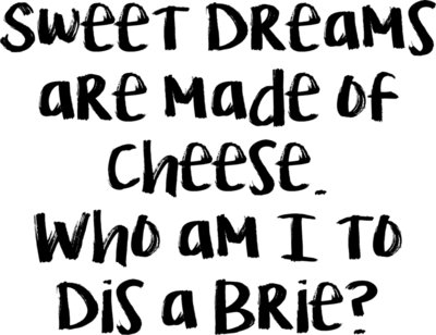 Sweet Dreams are Made of Cheesse