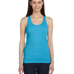 Ladies'  5.8 oz., 2x1 Rib Racerback Longer-Length Tank