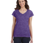 SoftStyle® Ladies' 4.5 oz. Junior Fit V-Neck T-Shirt