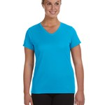 Ladies' Moisture-Wicking V-Neck T-Shirt