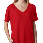 +CANVAS Ladies' Slouchy V-Neck Tee
