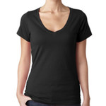 Ladies Sheer V-neck