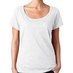 Ladies Sheer Scoop-Neck