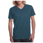 Premium Fitted Cotton Short-Sleeve Unisex V-Neck