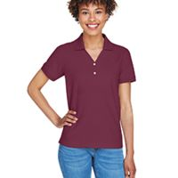 Ladies' Pima Piqué Short-Sleeve Y-Collar Polo T-Shirt Thumbnail