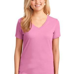Ladies 5.4 oz 100% Cotton V Neck T Shirt Thumbnail
