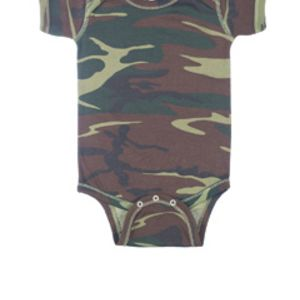 Infant Baby Rib Camouflage Lap Shoulder Creeper Thumbnail