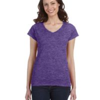 SoftStyle® Ladies' 4.5 oz. Junior Fit V-Neck T-Shirt Thumbnail