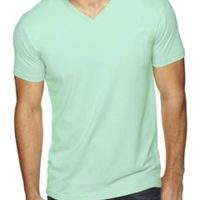Men's Premium Fitted Sueded V-Neck T-Shirt Thumbnail