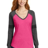 Ladies Game Long Sleeve V Neck T-Shirt Thumbnail