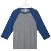 Bella+Canvas Unisex 3/4-Sleeve Baseball T-Shirt Thumbnail