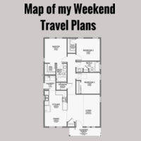 Map of My Weekend Travel Plans Design
