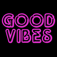 Good Vibes Neon Design