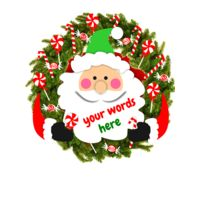 Santa Candy Wreath Thumbnail