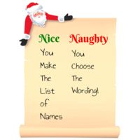 Santa's Nice or Naughty List Thumbnail